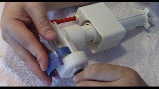 Spülkasten reparieren - Befüllung dauert zu lange - Defekte Hutmembran ersetzen, Kalk entfernen