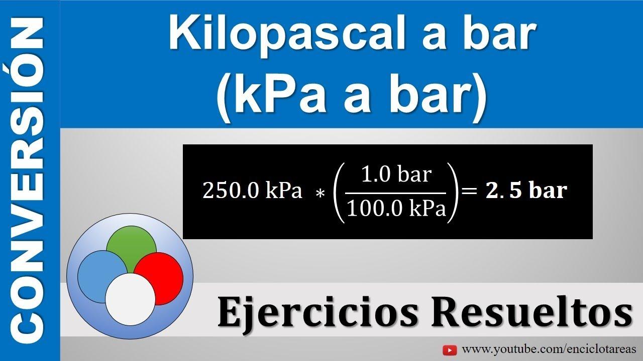 Kilopascal A Bar Kpa A Bar Youtube