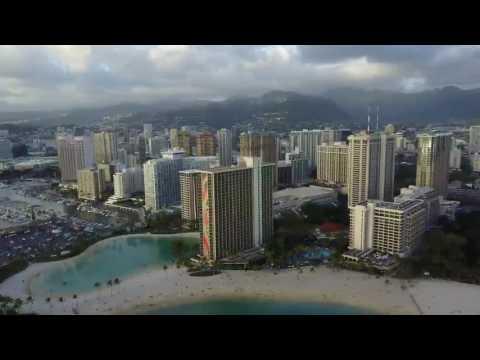 Honolulu drone flight