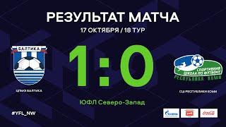 ЦПМФ «Балтика» – СШ Республики Коми. 18 тур. Обзор