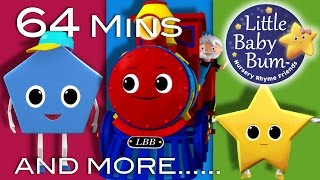 Shapes Train Song | And More Nursery Rhymes | From LittleBabyBum