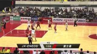 全日本バスケ2015 女子準決勝 富士通 vs JX 山本千夏 動画 17