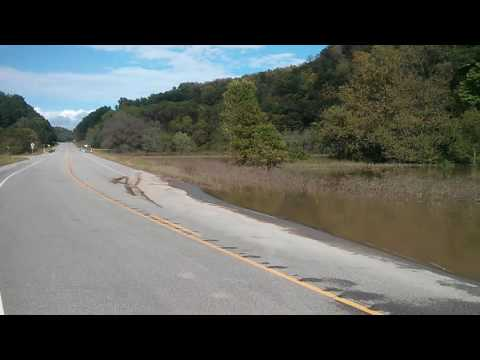 Highway 131 flooding near Richland / Vernon County line in SW Wisconsin