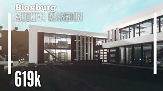 (619k) Modern Mansion SpeedBuild (2019 Remake)  Bloxburg ROBLOX