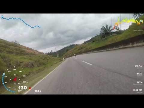 Superbike ride at Gerik perak...downhill