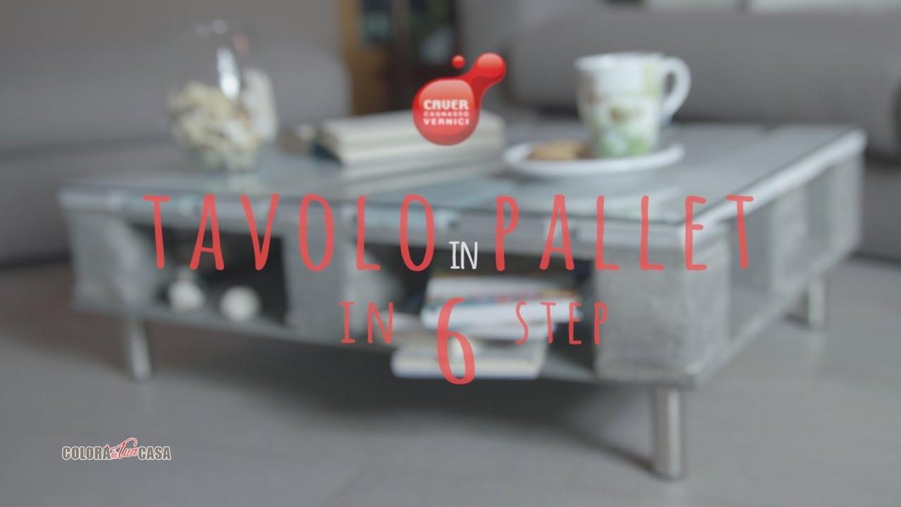 Tavoli Da Salotto Fai Da Te : Pallet fai da te: tavolo da salotto shabby! youtube