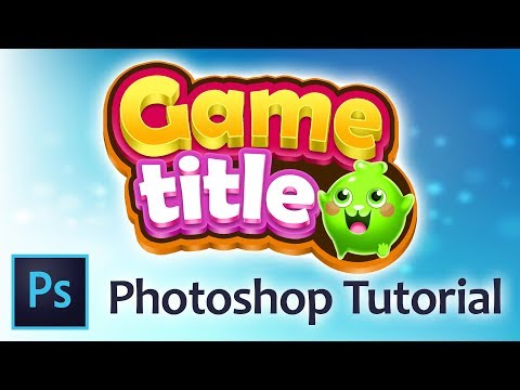 How Create Game Title | Photoshop Tutorial