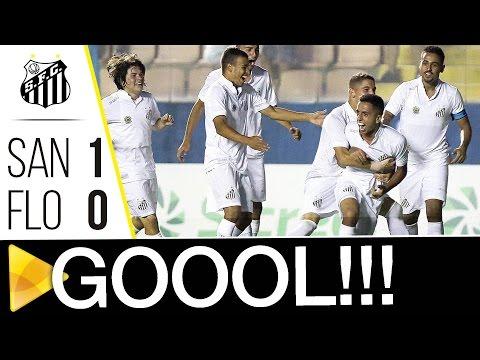Santos 1 x 0 Floresta-CE | GOL | Copa SP (04/01/17)