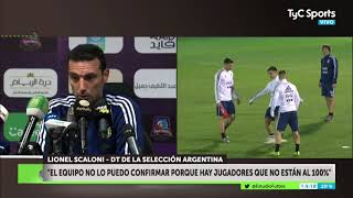 Scaloni piensa en el tridente Messi-Agüero-Lautaro para enfrentar a Brasil