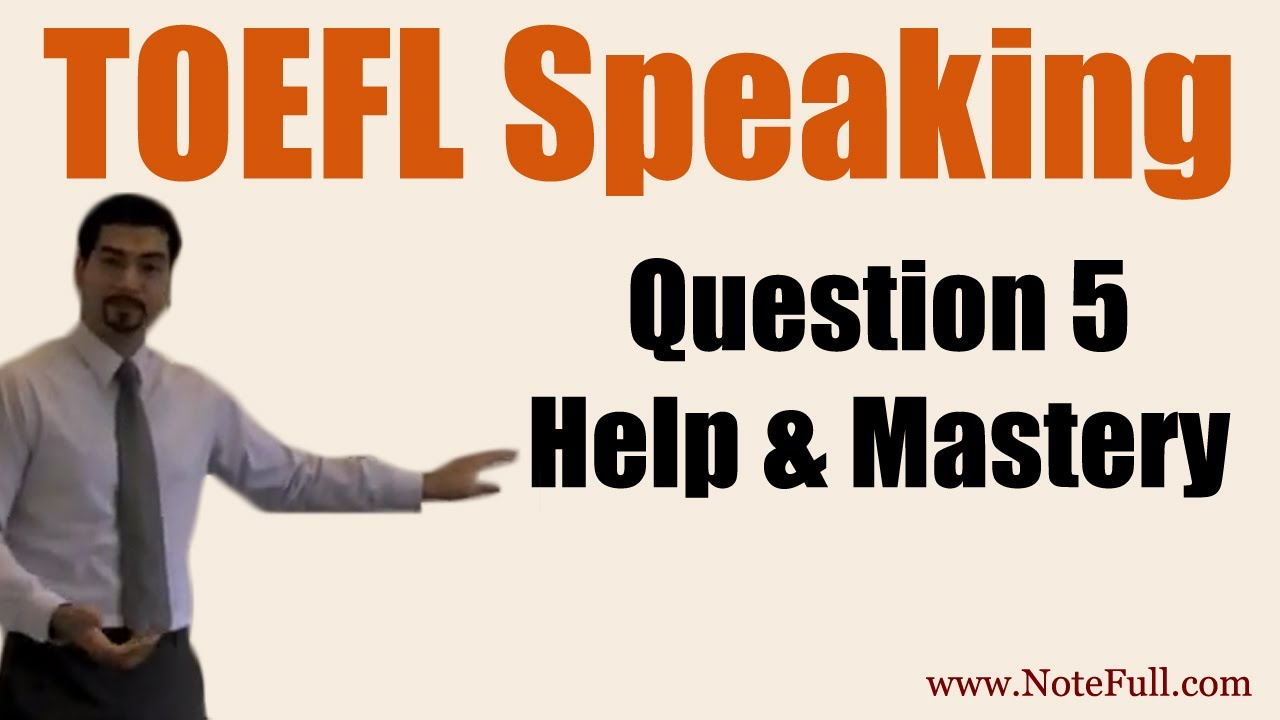 I have a problem with answering the toefl (IBT) speaking section.?