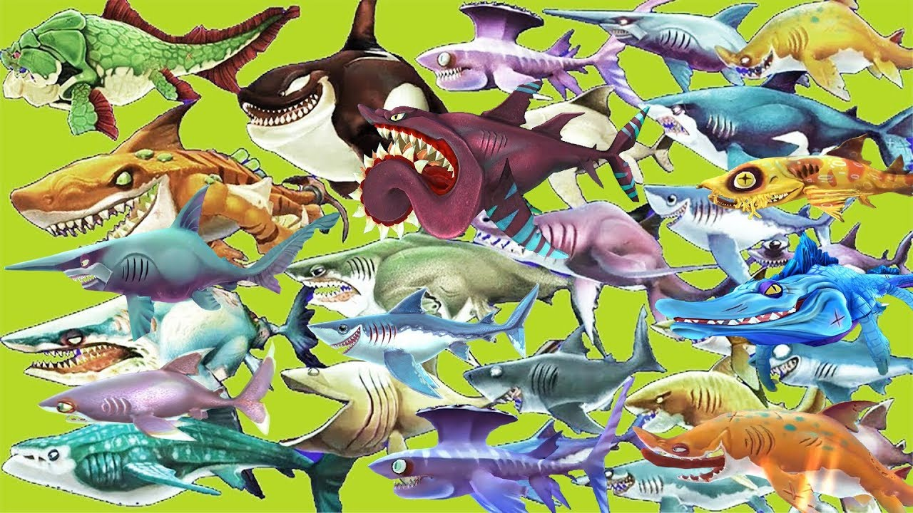 Hungry Shark World - ALL SHARKS UNLOCKED 2019 - NEW UPDATE ...