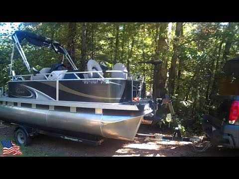Trolling motor installed on a Pontoon Boat  (Part 2)