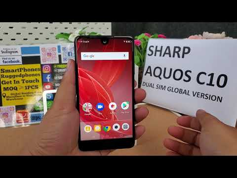 SHARP AQUOS C10 S2 DUAL SIM CARDS SMART PHONE REVIEW