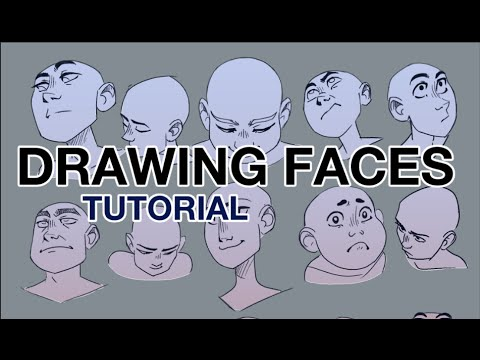 Drawing Faces from Difficult Angles - Step by Step - Construction Techniques