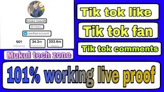 Free Tiktok fan increase how to increase Tik Tok followers Tik Tok