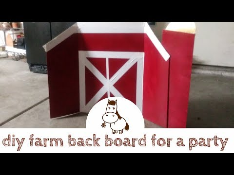 Diy barn backdrop for a party