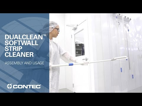 Using the DualClean™ Softwall Strip Cleaner