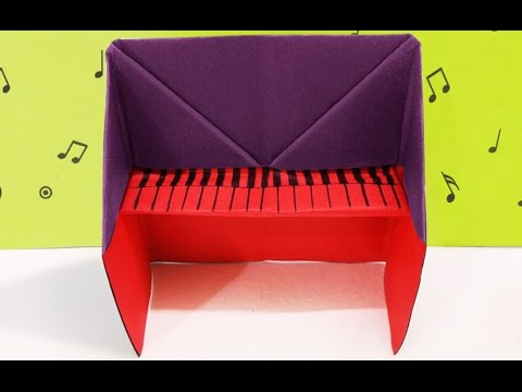 DIY Crafts : How to Make Origami Piano | DIY Project Idea | Easy Kids Crafts