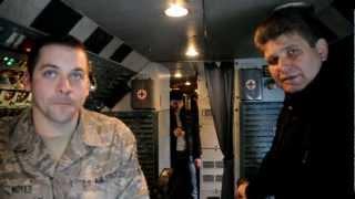 Antonov 225 Rare Cockpit interview with flight engineer in Bangor, Me