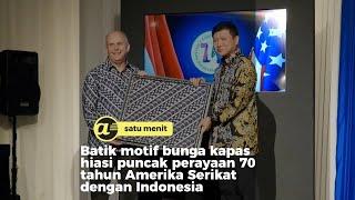Batik motif bunga kapas hiasi 70 tahun hubungan Amerika Serikat-Indonesia