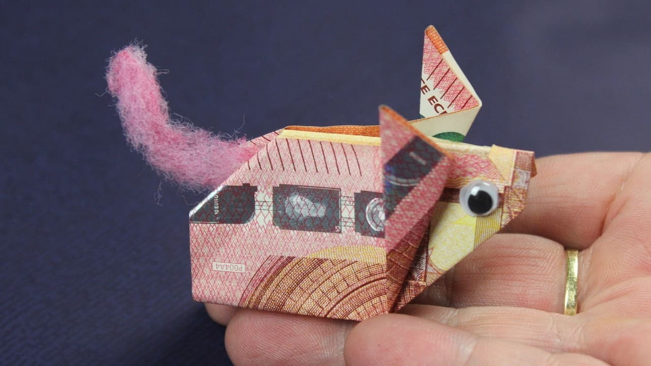 Geld falten Schwein aus Geldscheine basteln Deko Ideen mit Flora Shop YouTube ~ 01192651_Liegestuhl Aus Geldscheine Falten