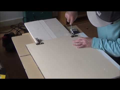 fitting a kitchen cupboard door 1