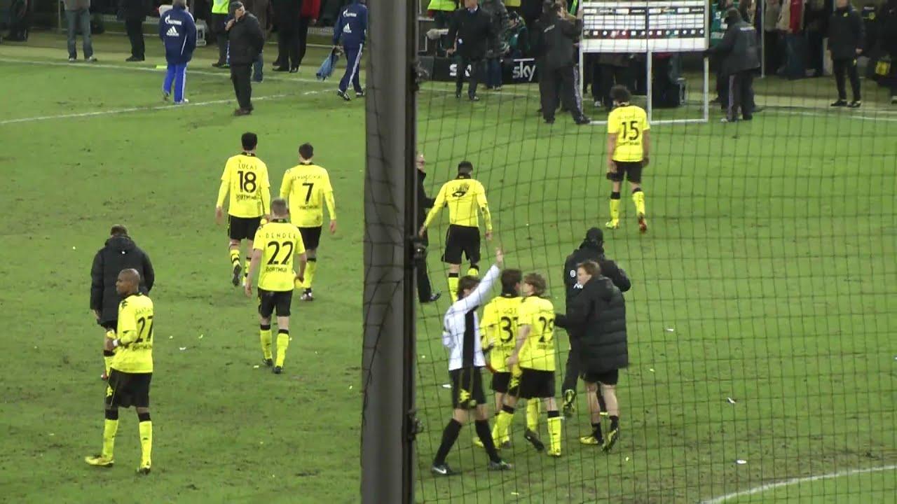 BVB - Schalke Derby Stimmung Fans nach dem Spiel Borussia Dortmund   HD