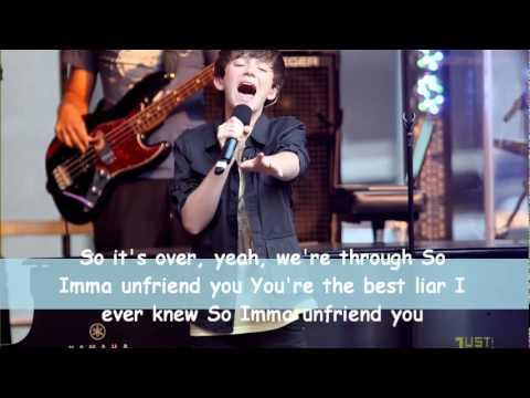 Greyson Chance - Unfriend You (Acapella) Lyrics