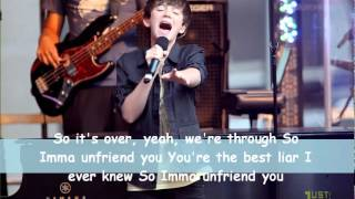 Greyson Chance - Unfriend You (Acapella) Lyrics