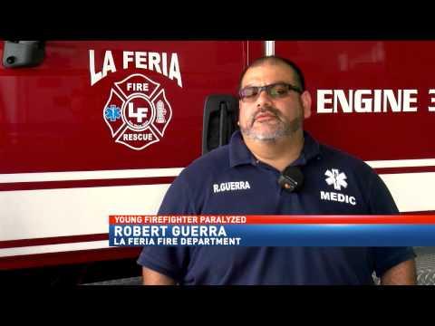 Texas firefighter paralyzed after car crash