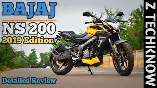 Bajaj Pulsar NS 200 ABS 2019 Edition Detailed Review Hindi | Mileage | Price & Pros | Z Techknow