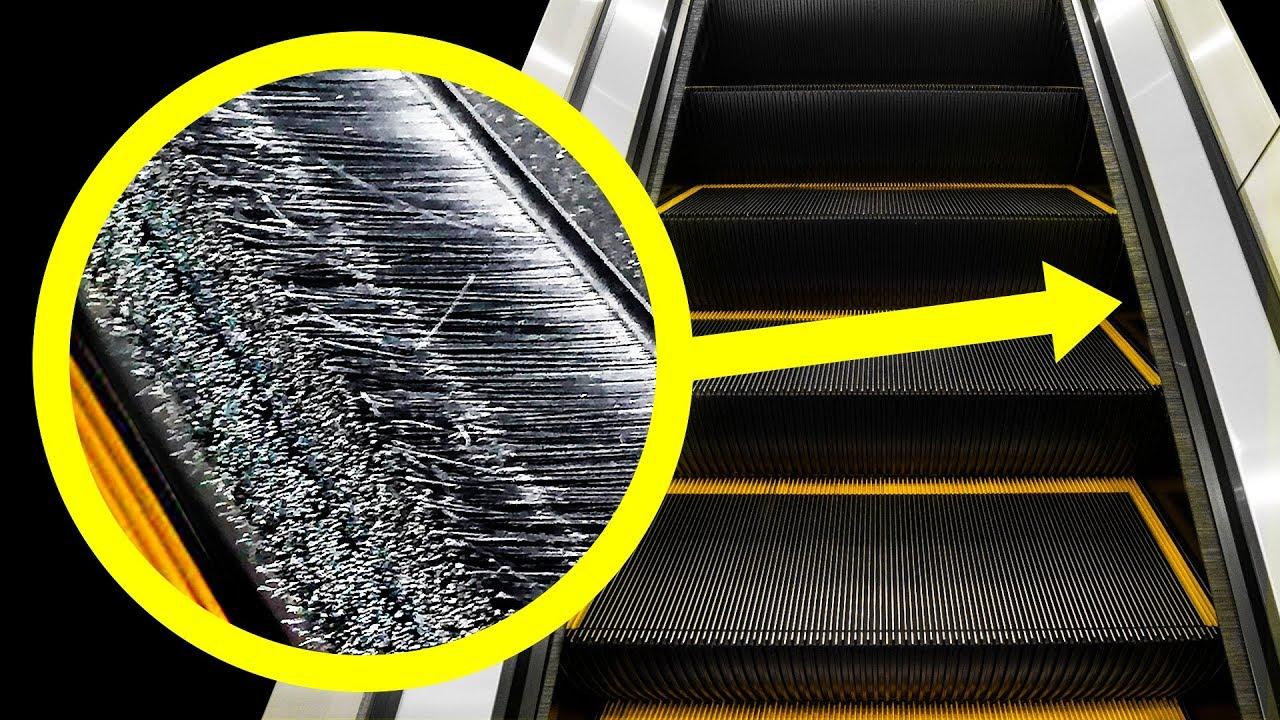 السبب غير المتوقع لوجود فرش في السلالم المتحركة