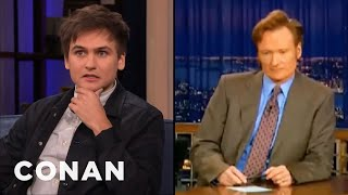 Moses Storm Taped Over Christian Homeschool Videos To Record Late Night - CONAN on TBS