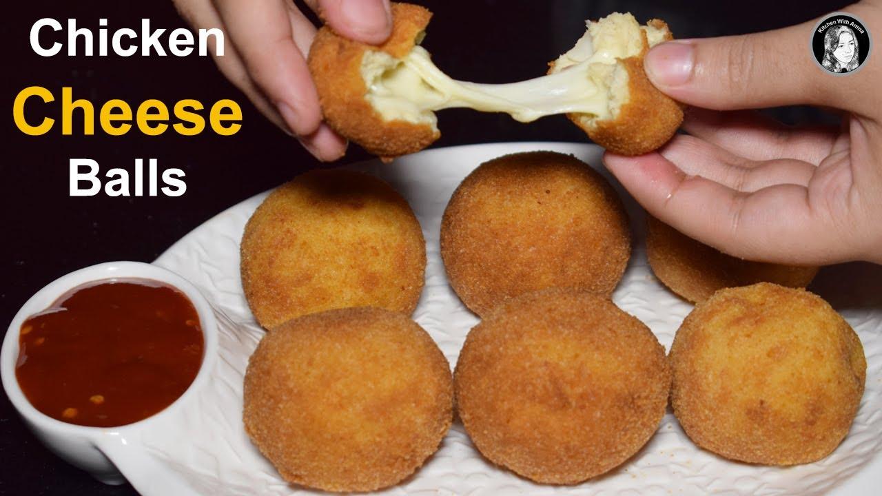 Chicken Cheese Balls - Cheesy Snack Recipe - Ramadan Recipes - YouTube