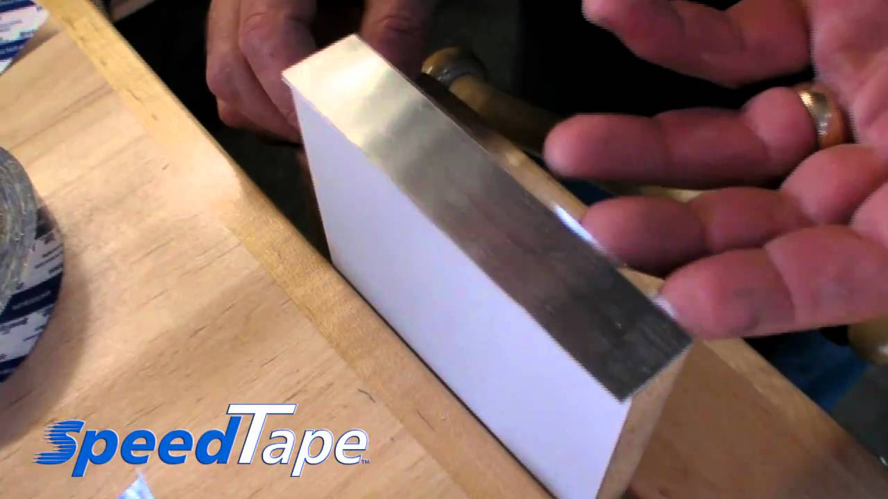 Speedtape With Metal Edge Banding Youtube