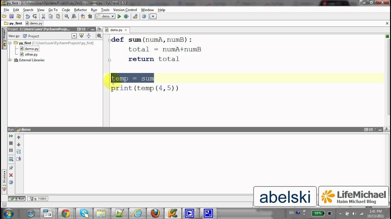 variable assignment  Compressing x if x else y