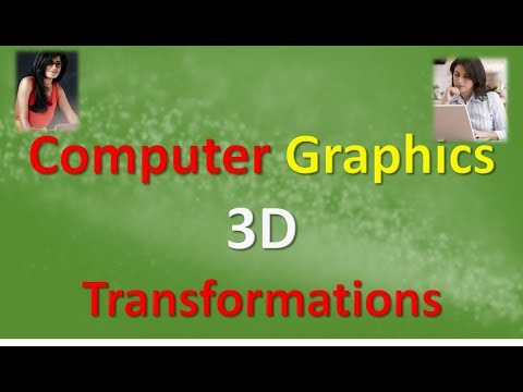 Computer Graphics 3D Transformations