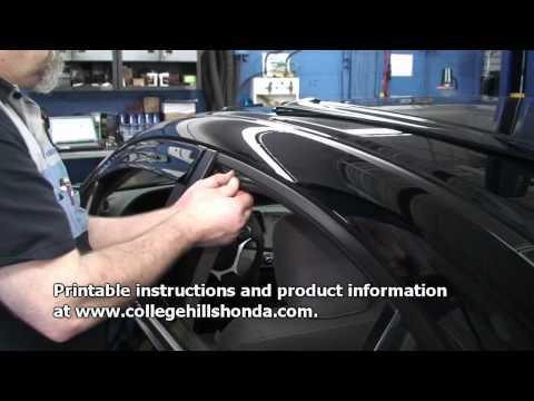 Episode #210 - 9th Gen Honda Civic Sedan Door Visor Installation