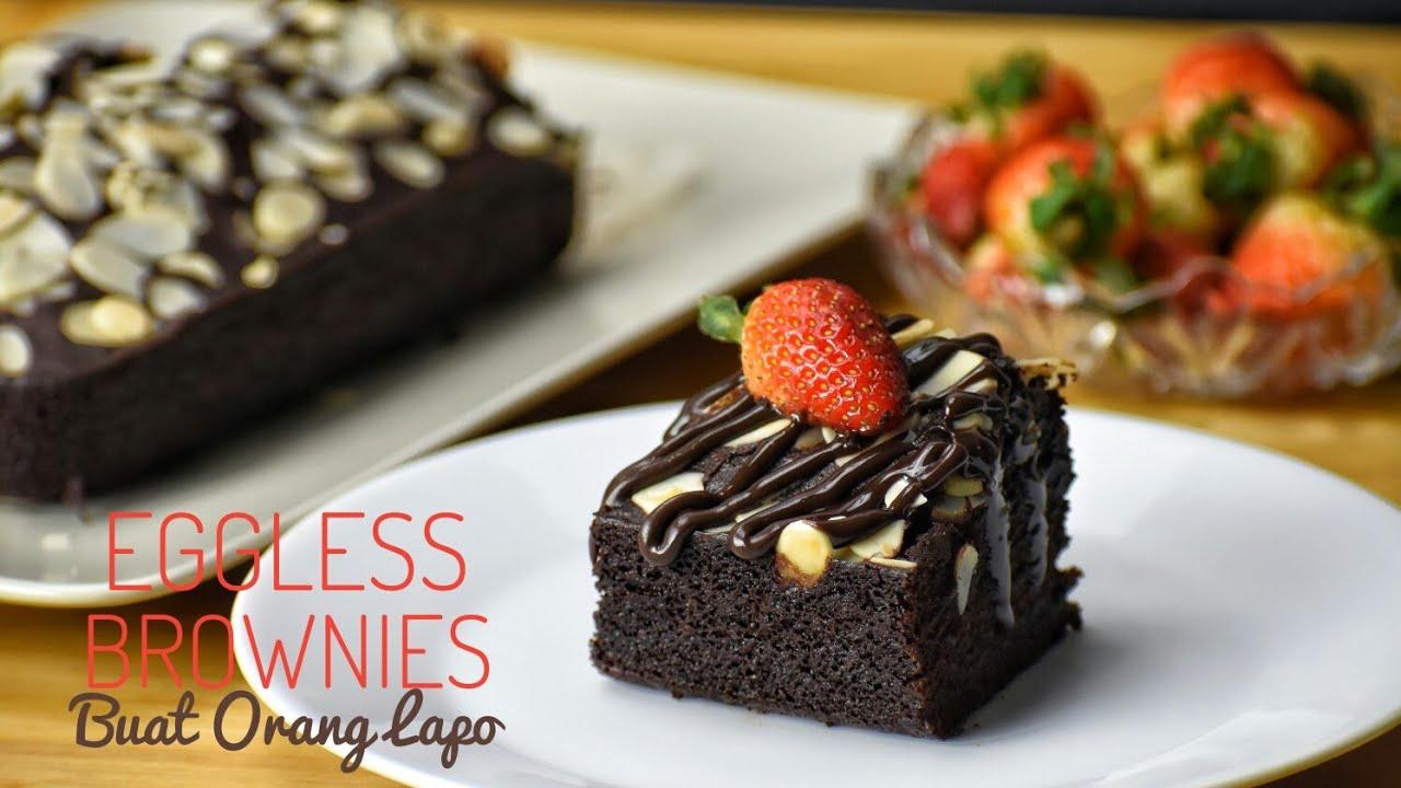 Eggless Brownies Brownies Tanpa Telur
