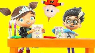 PJ Masks Romeo LOL Surprise Learn Colors Challenge vs Ellie Sparkles