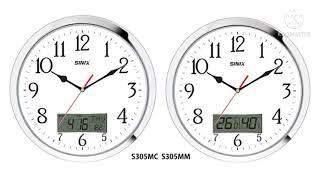 시닉스 알루미늄 메탈크롬 캘린더 온도계  습도계 벽시계…