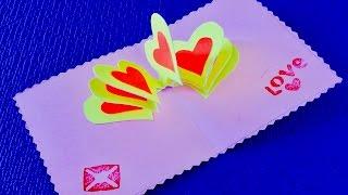 DIY crafts: ????Открытка на День Святого Валентина своими руками????