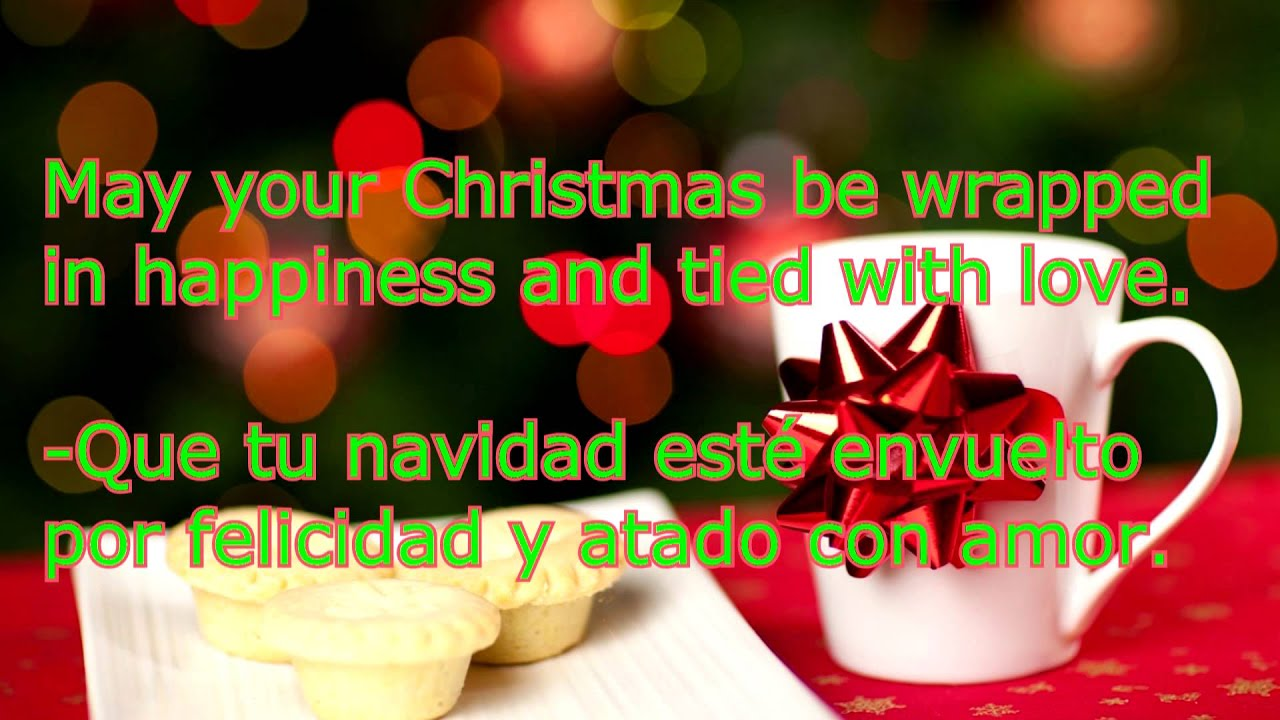 frases de navidad en ingles y español 2018 parte 1 de 4