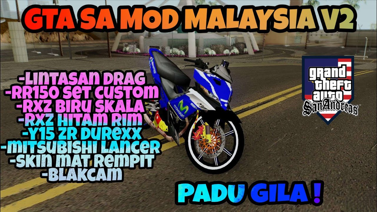 Gta San Andreas Mod Malaysia V2 Tutorial Download Malaysia Bahasa Melayu Youtube