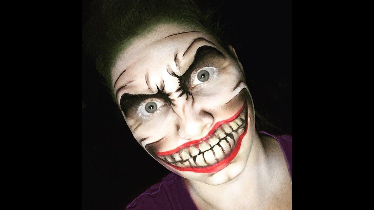 The Joker Halloween Makeup Tutorial - YouTube