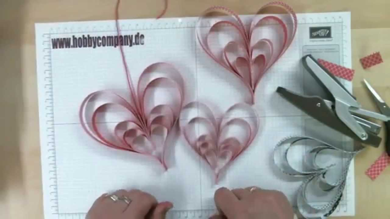 Muttertags Herz Aus Papierstreifen Youtube