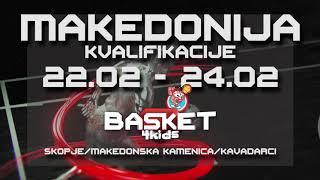 BASKET 4 KIDS 2018/2019   Najava Takmičenja u Makedoniji   Skopje, Makedonska Kamenica, Kavadarci