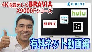 ソニー4K液晶テレビBRAVIA X9000Fシリーズの有料ネット動画編 液晶テレビ 検索動画 23