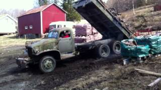 GMC cckw dump truck in action