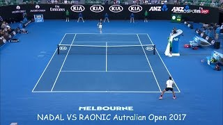 australian open 2017 QF nadal/raonic best points HD